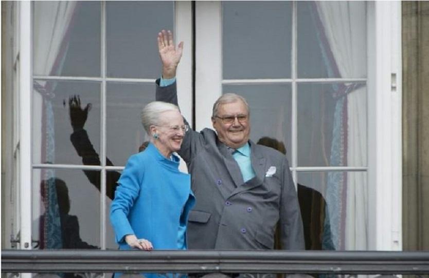 Príncipe de Dinamarca y esposa