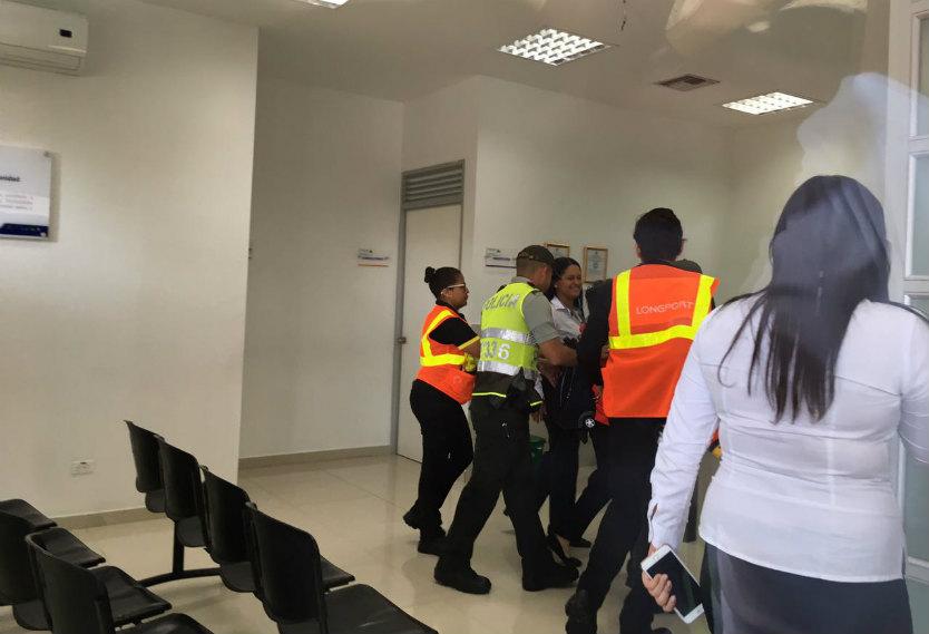 Mujer capturada en Cartagena