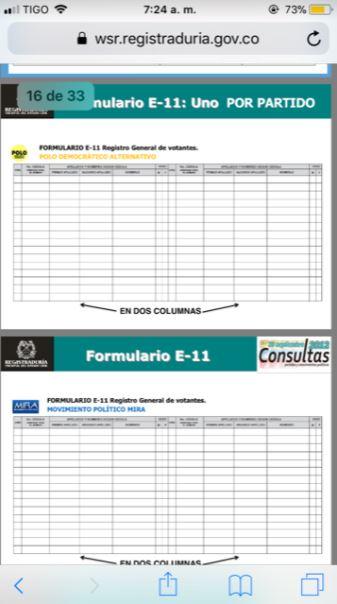 FORMULARIO E 11