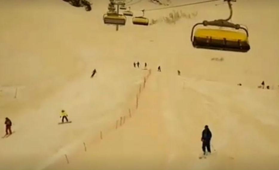 Nieve amarilla en Rusia