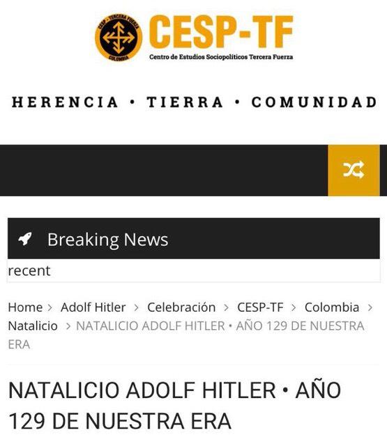 Evento natalicio de Adolf Hitler