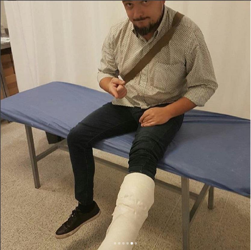 Periodista lesionado