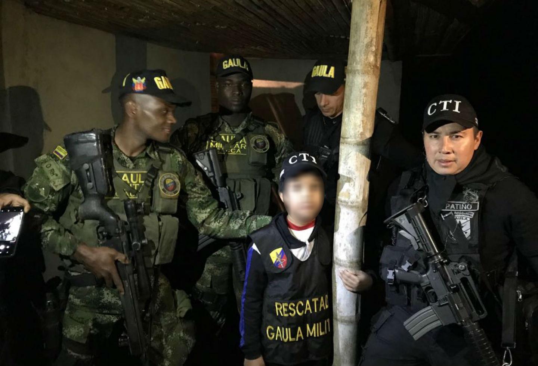 Niño rescatado en el Cauca