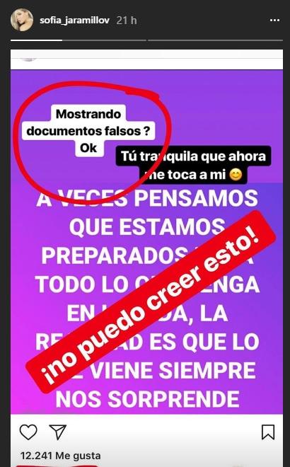 Mensaje Sofía Jaramillo