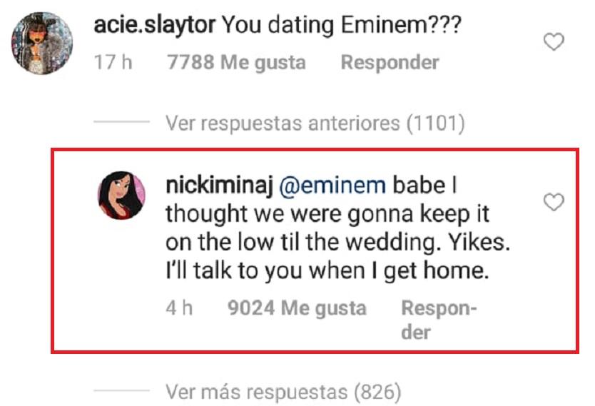 Respuesta de Nicki Minaj