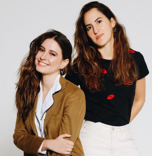 Taliana Vargas y la diseñadora Pili Restrepo