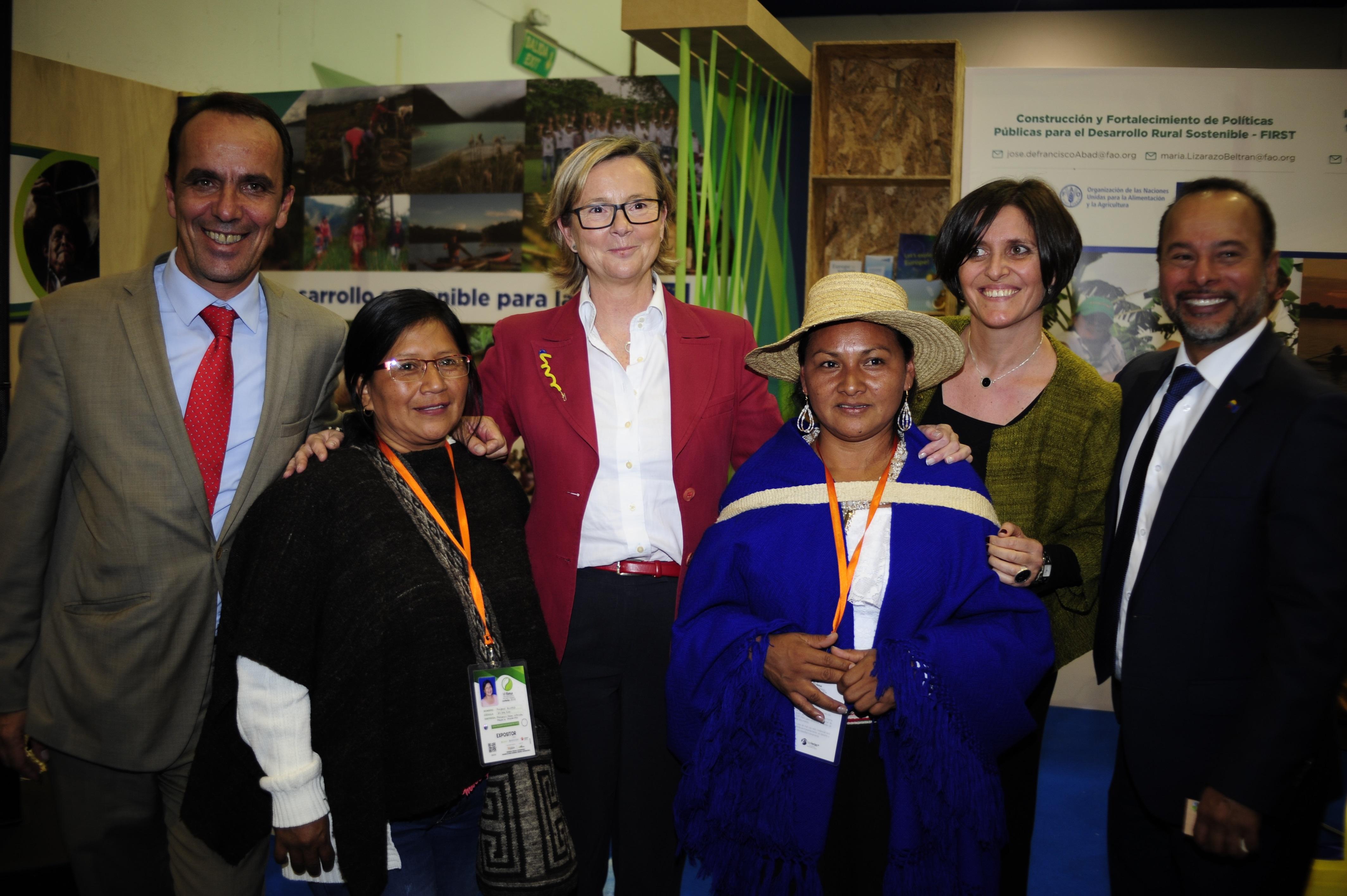 Las comunidades indígenas del Cauca reciben apoyo de la Unión Europea.
