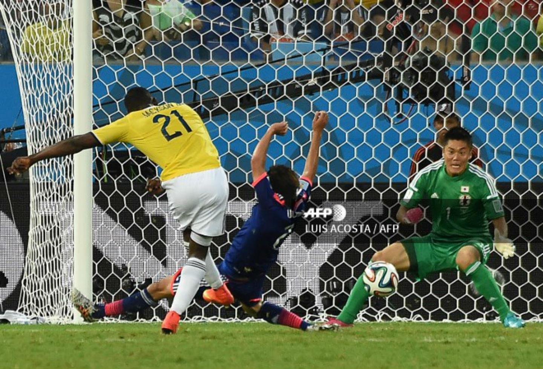 Segundo gol de Jackson Martínez ante Japón
