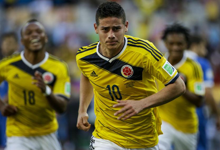 James en el Mundial de Brasil