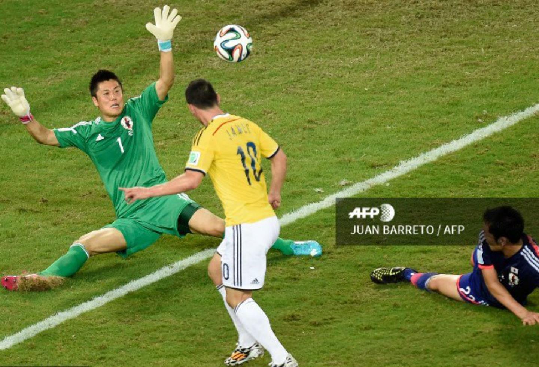 Gol de James Rodríguez ante Japón