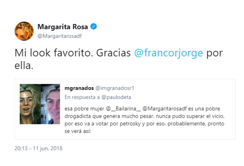 El trino de Margarita Rosa de Francisco