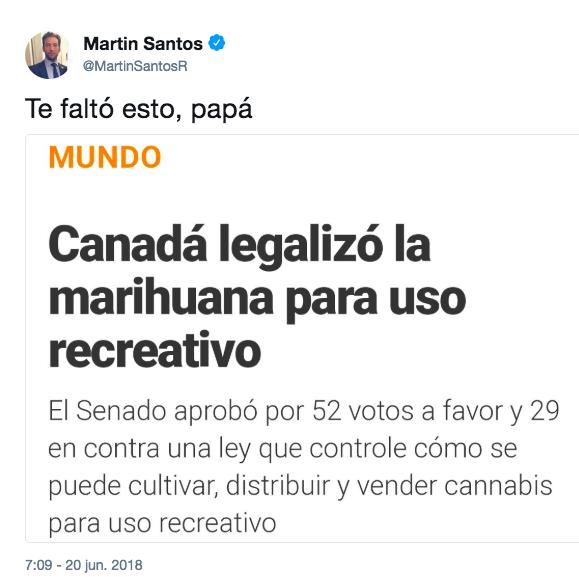 Martín Santos habló así de la marihuana medicinal