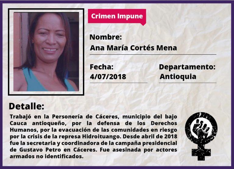 Ana María Cortés Mena,