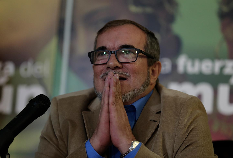 Rodrigo Londoño, máximo comandante de la colectividad de las Farc