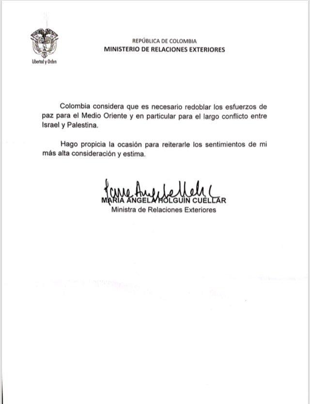Carta María Ángela Holguín
