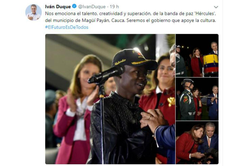 Tuit de Iván Duque sobre Magüi Payán