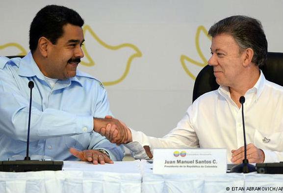 Presidente Maduro y Santos