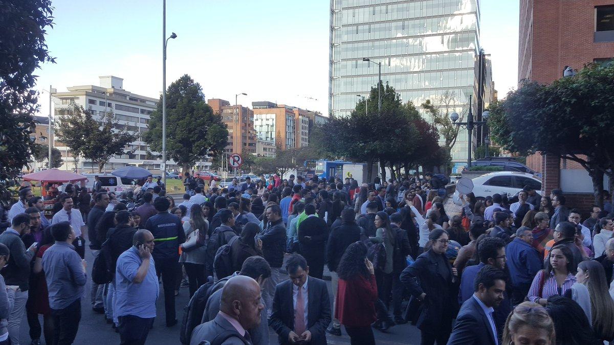 Evacuación por temblor en el centro de Bogotá