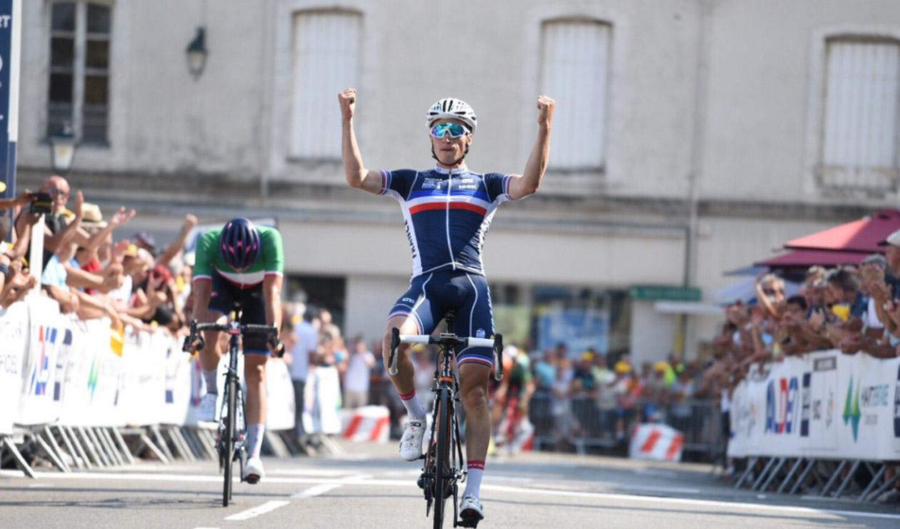 Damian Touzet, ganador de la tercera etapa del Tour de L'Avenir