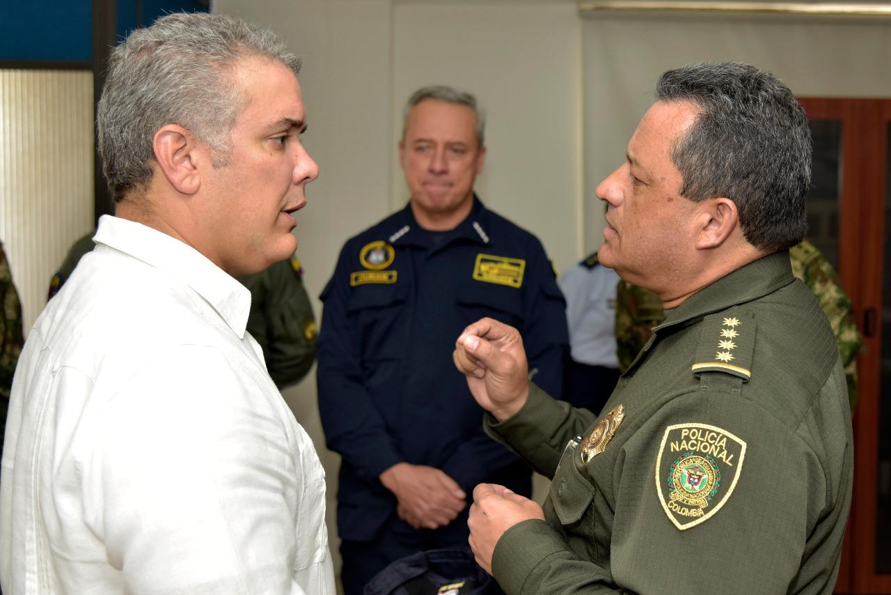 El presidente Iván Duque en su primer viaje a San Andrés