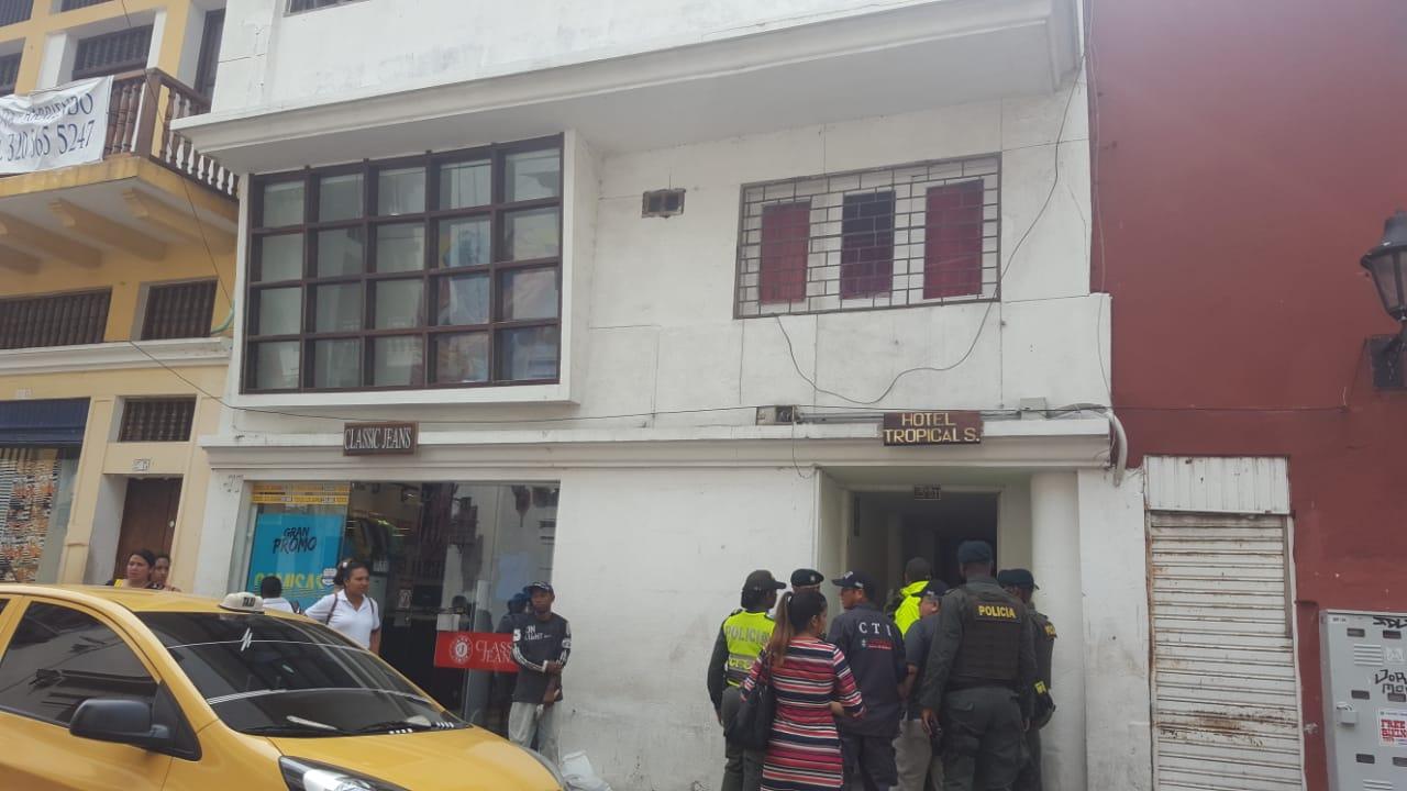 Hostal donde se realizaban los encuentros entre extranjeros y menores