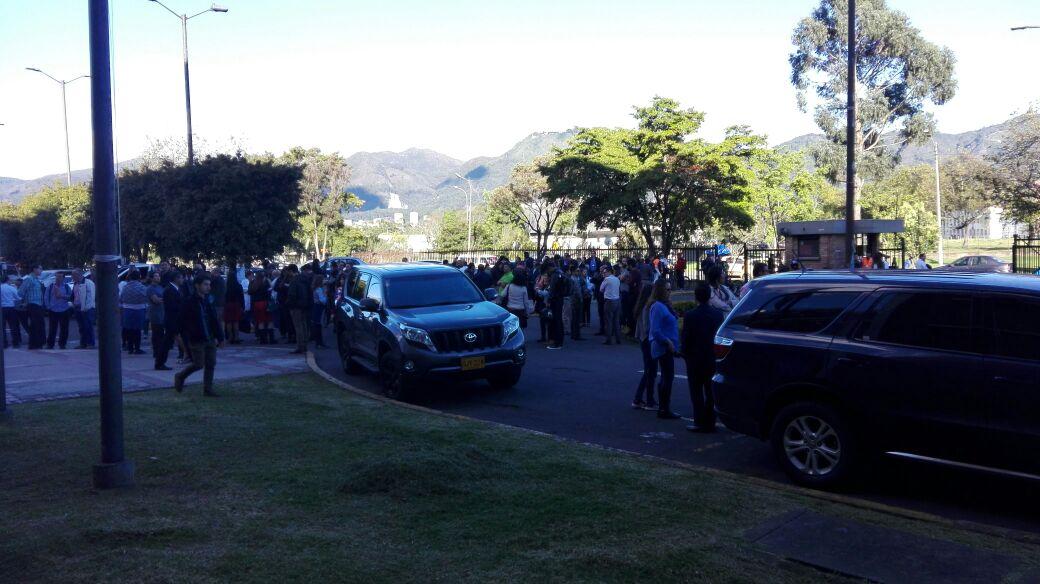 Evacuación Universidad Nacional en Bogotá