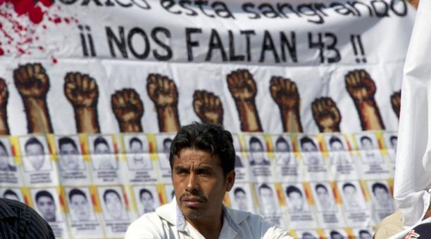 Padres de los 43 desaparecidos.