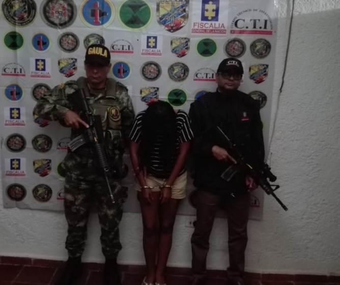 Presunta extorsionista capturada en Valledupar
