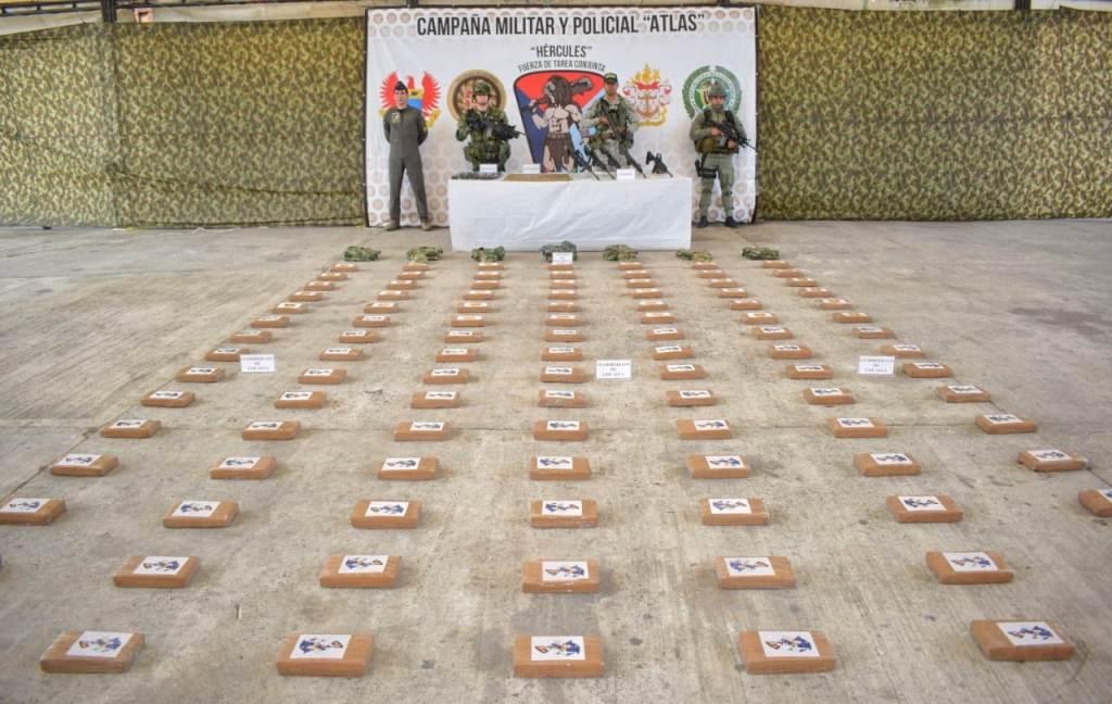 Mas de 106 kilos de clorhidrato de cocaína fueron encontrado pro el ejército en Tumaco