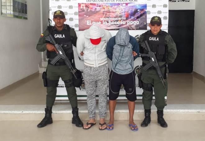 Capturados Policía Nacional