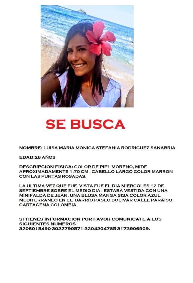 Se trata de Luisa María Rodriguez Sanabria