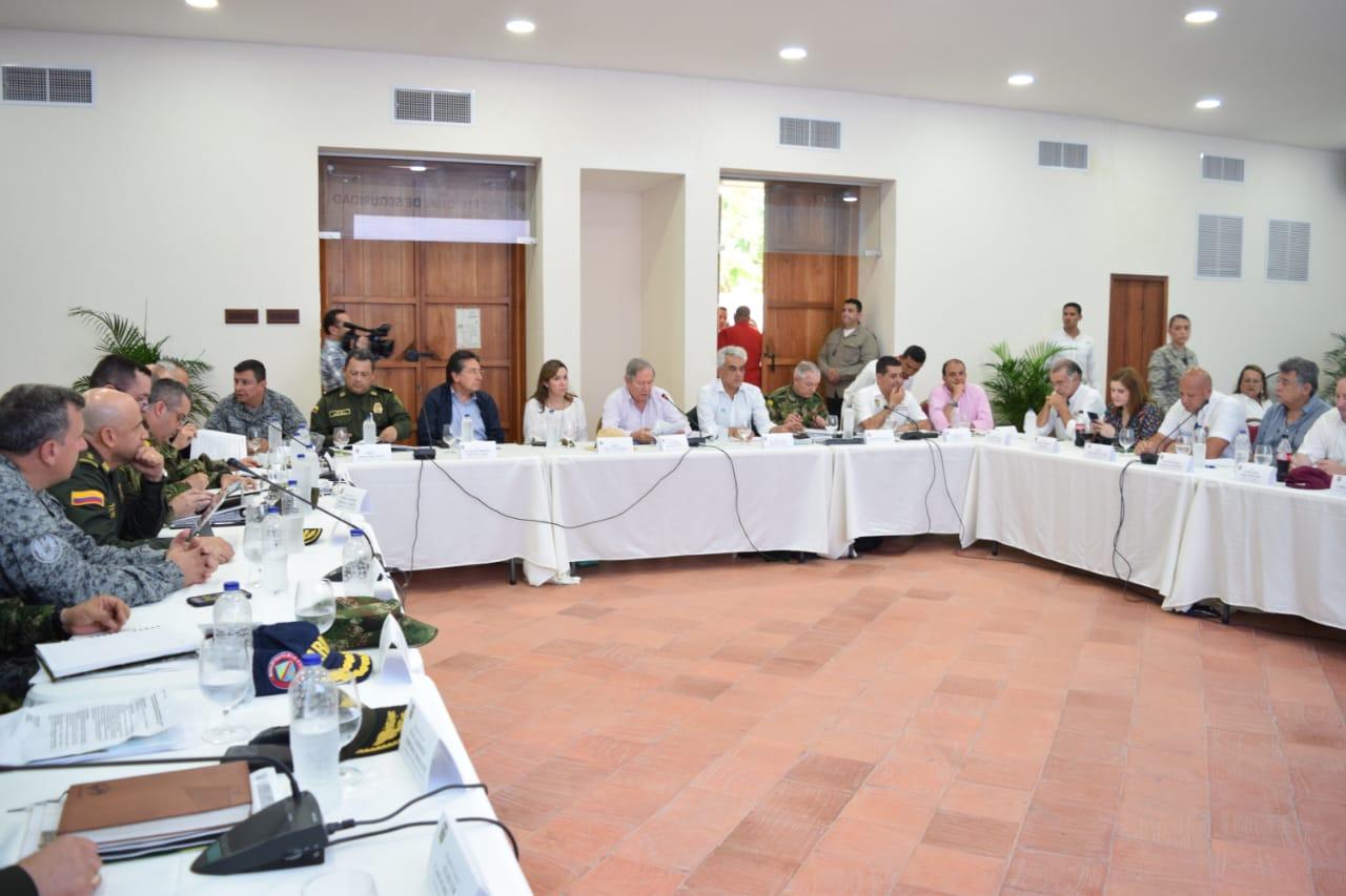 En la reunión de acordaron acciones para combatir del narcótráfico, la minería ilegal y otros delitos que afectan a la Región Caribe.