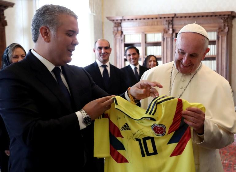 Encuentro Iván Duque - papa Francisco