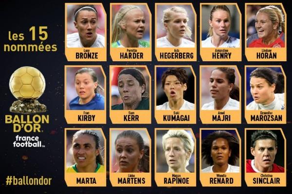 Nominadas al primer Balón de Oro en la categoría femenina