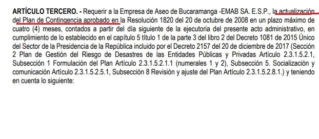Documento de seguimiento de la Anla a El Carrasco.