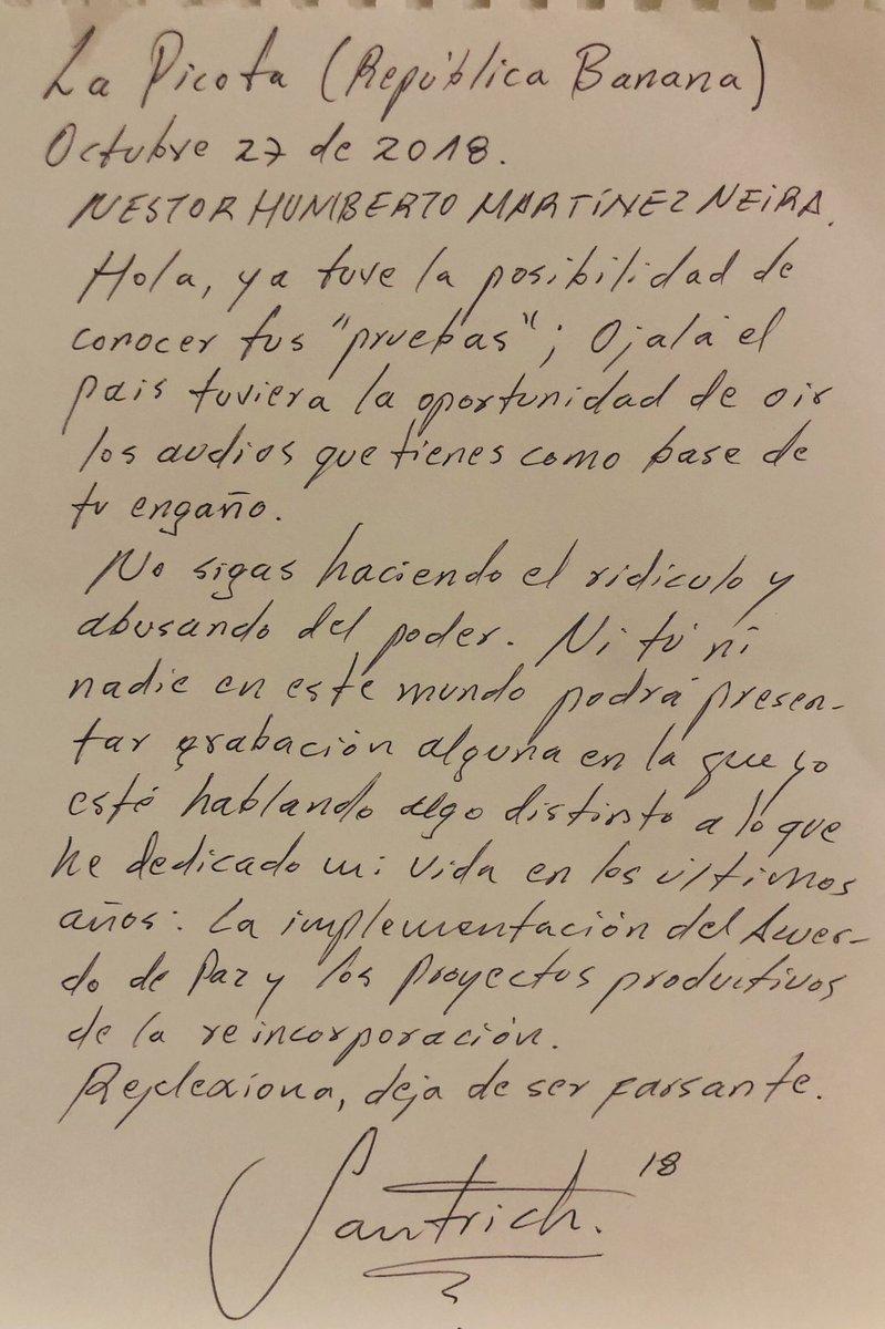 Carta de Santrich