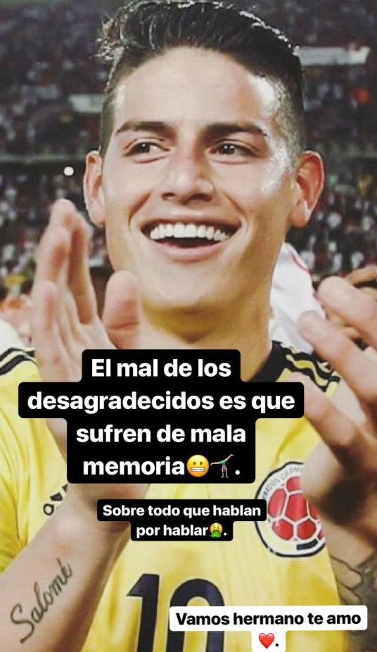 Publicación de Juana Valentina en Instagram, Hermana de James Rodríguez