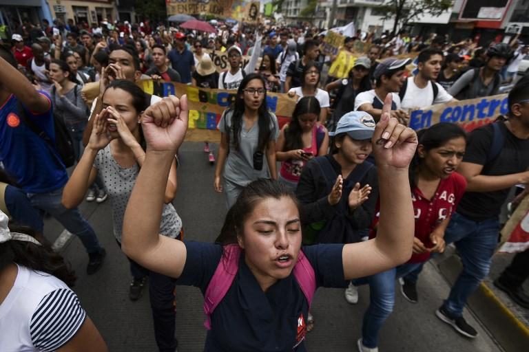 Marcha de universitarios en Cali