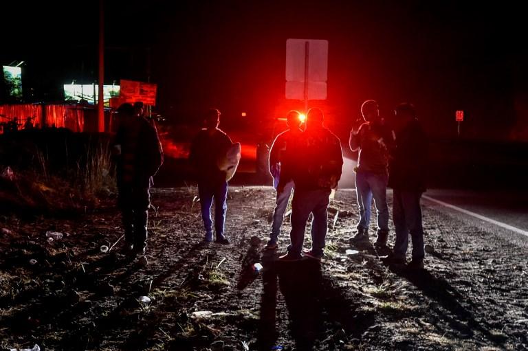 Migrantes venezolanos rumbo a Perú