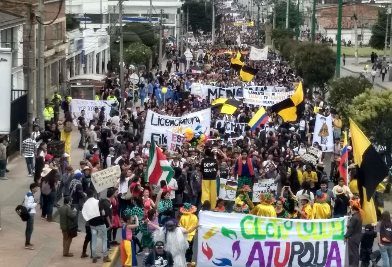Marcha estudiantil en Pereira