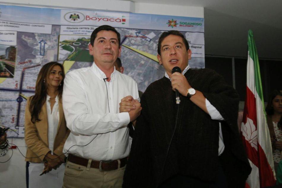 Gobernador Boyacá y alcalde de Sogamoso