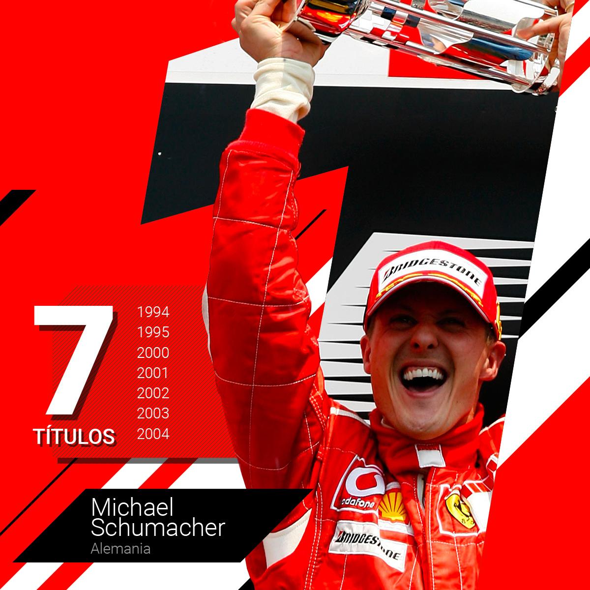 Michael Schumacher en sus años glorias de gloria con la escudería Ferrari