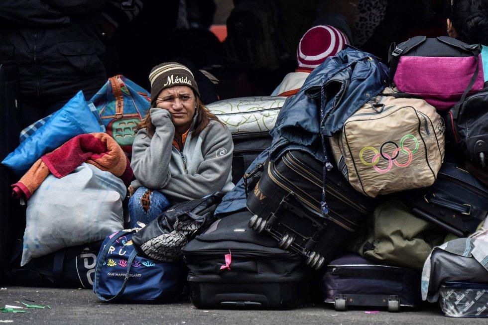 Venezolanos migración maletas