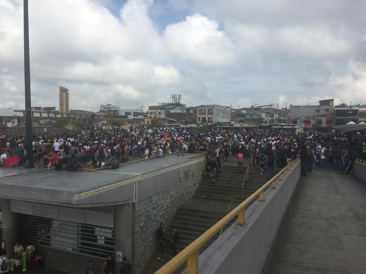 Protesta estudiantil en Pereira.
