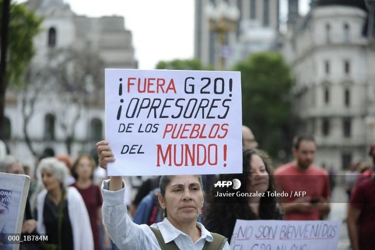 Protestas en Buenos Aires G20