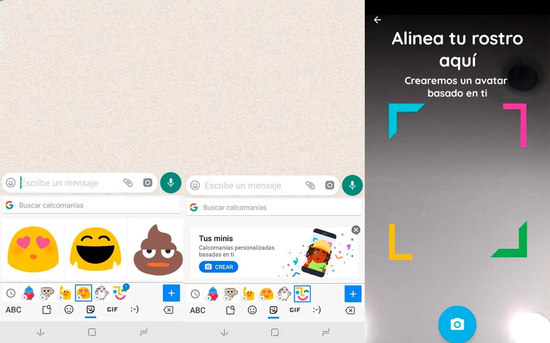 Gboard permite crear emojis con el rostro del usuario