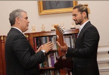 El paisa se reunió con el Presidente para hablar sobre proyectos de su fundación.