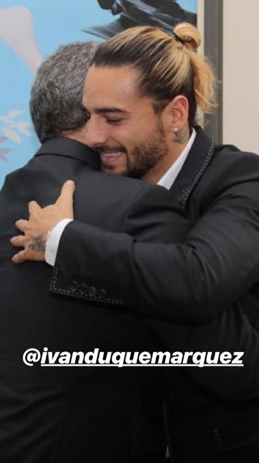 Maluma e Iván Duque