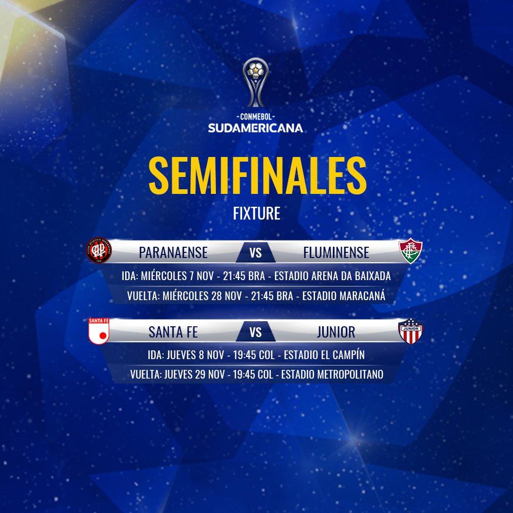 Programación semifinales Copa Sudamericana