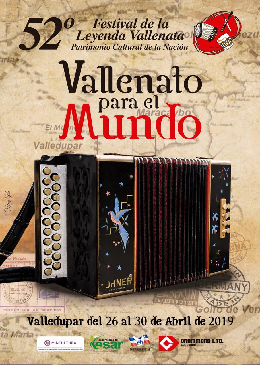 Imagen Oficial del Festival de la Leyenda Vallenata